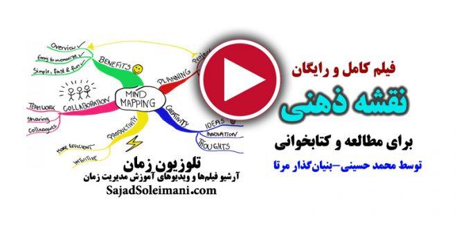 فیلم آموزش کامل نقشه ذهنی برای مطالعه و کتابخوانی و یادگیری و تندخوانی
