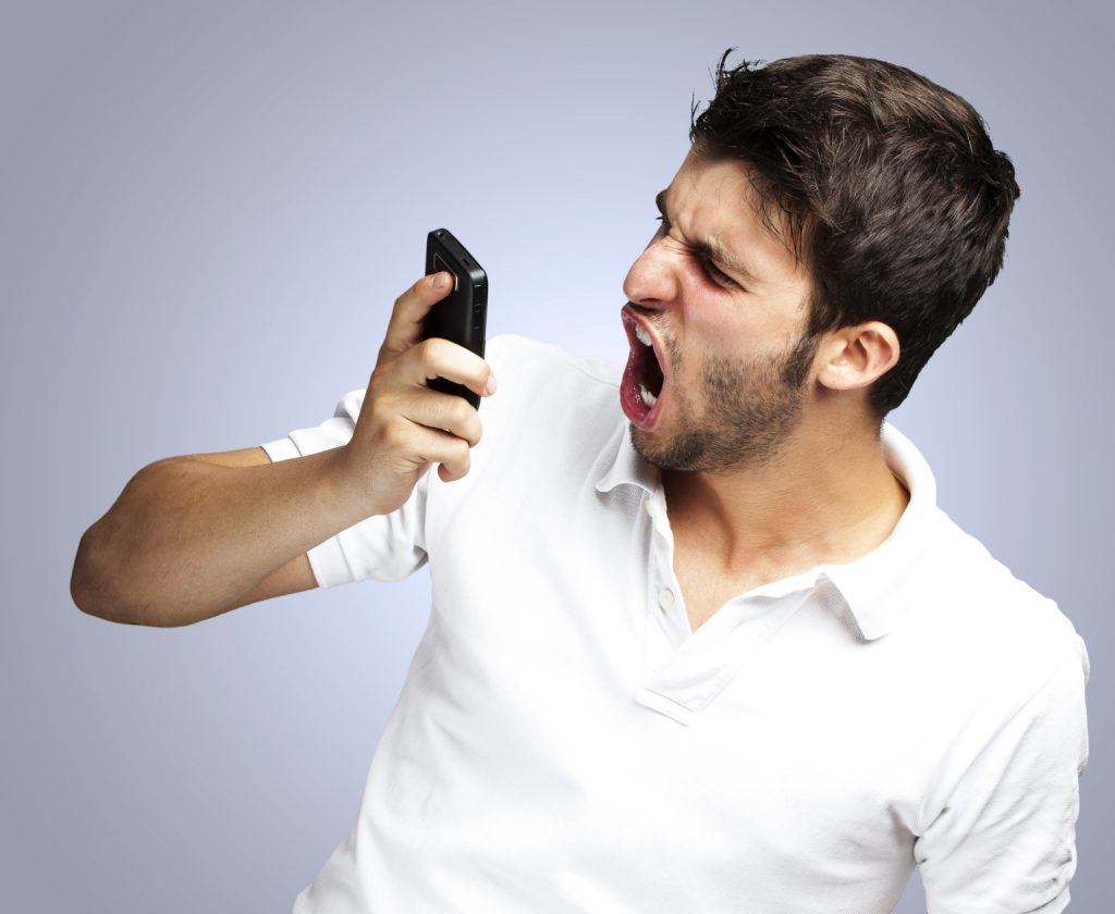 صحبت کردن و حرف زدن عصبانی